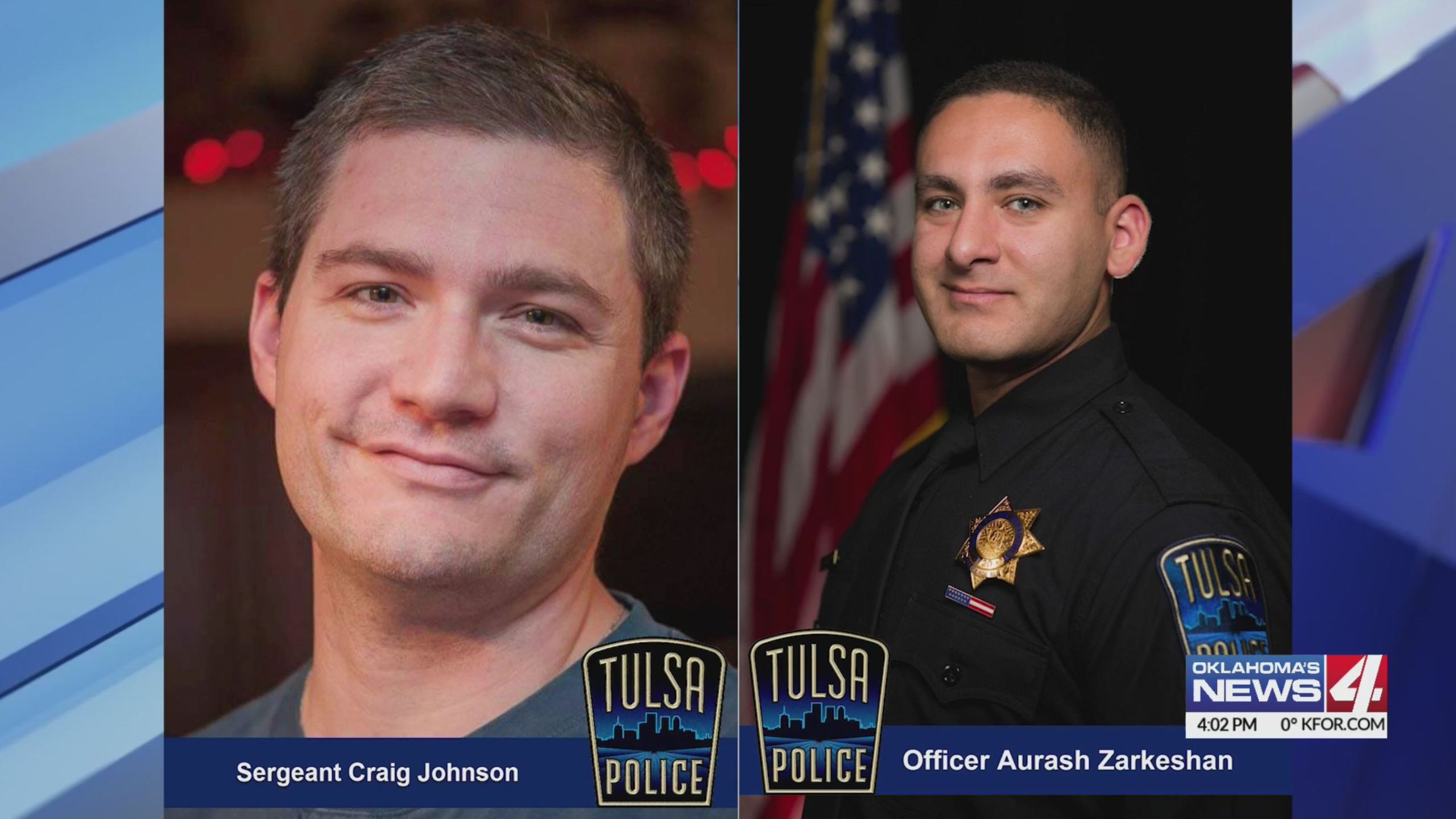 Sgt. Craig Johnson and Officer Aurash Zarkeshan