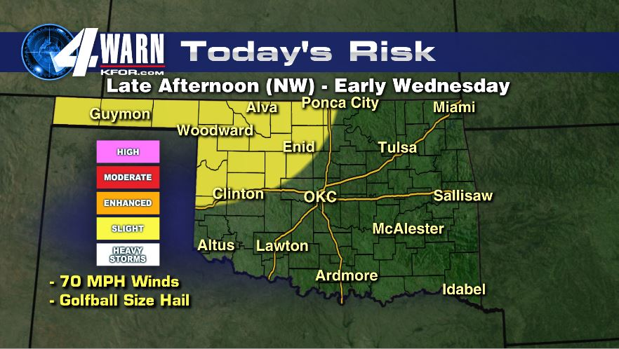 Tuesday Severe Risk