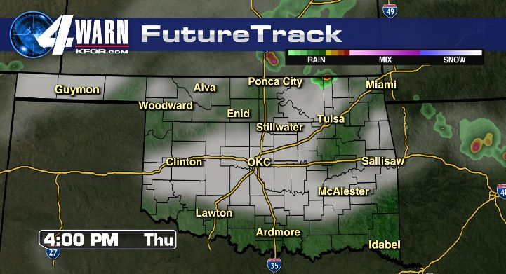 Clouds Thursday afternoon, isolated showers and storms