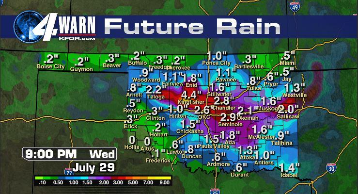 Future Rainfall Totals