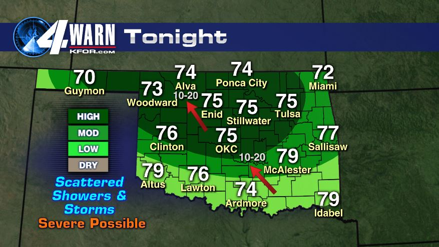 Monday Night/Early Tuesday Storms