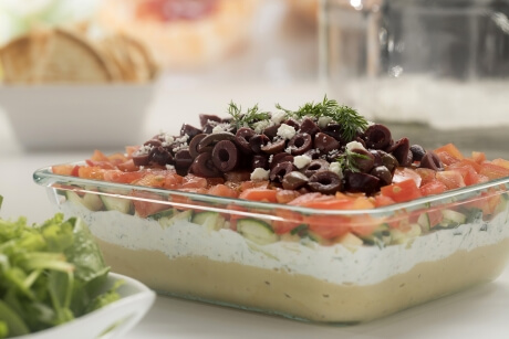 Layered greek salad dip