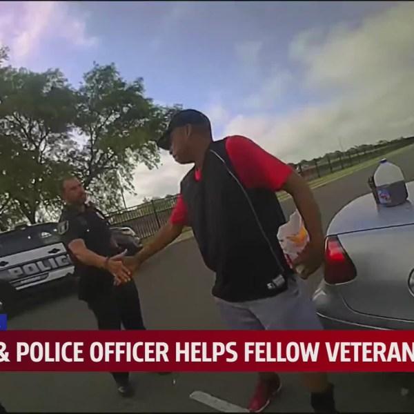 Oklahoma officer helps veteran