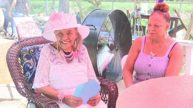Woman Celebrates 100 Birthday
