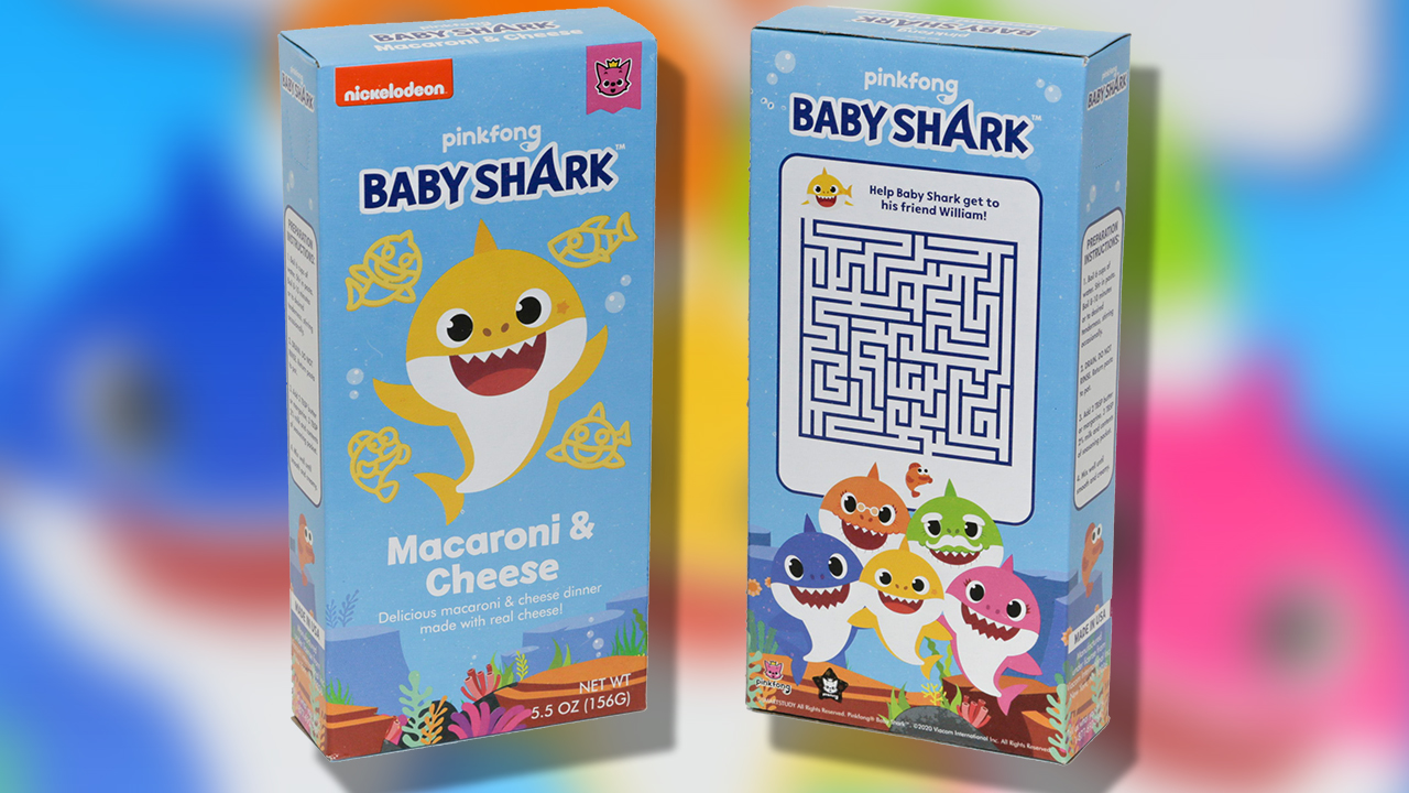 Baby Shark Mac and Cheese box