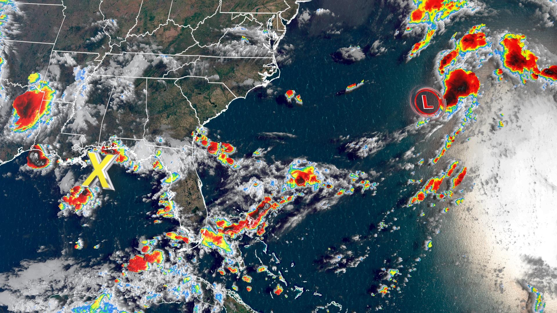 radar image of Atlantic Coast