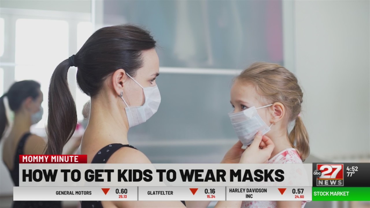 How to encourage kids to wear a face mask