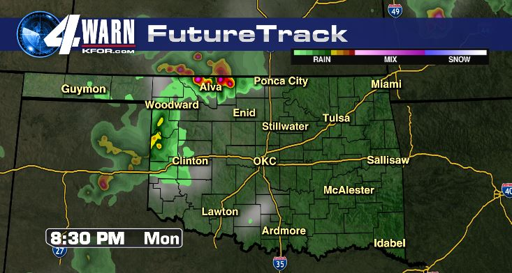 Storms NW Late Monday
