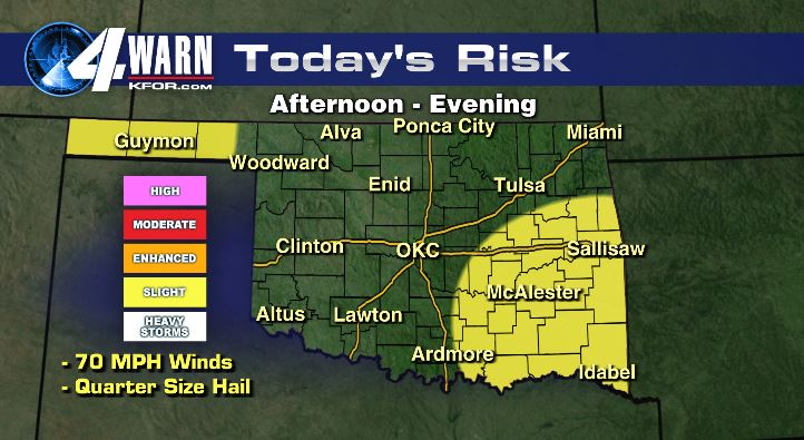 Severe Possible Tuesday