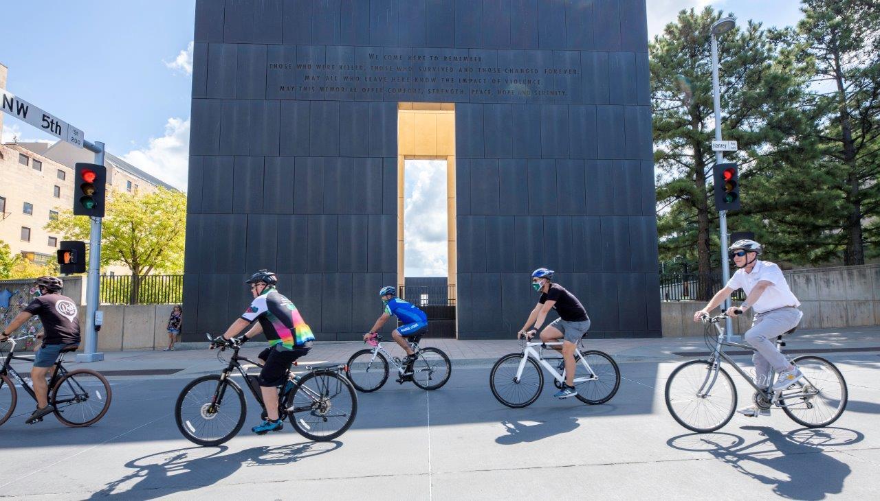 Biking at the Memorial