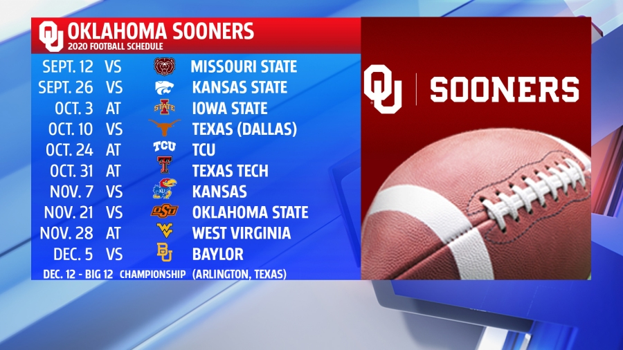 Ou Osu Release Updated Football Schedules For The 2020 Season Kfor Com Oklahoma City