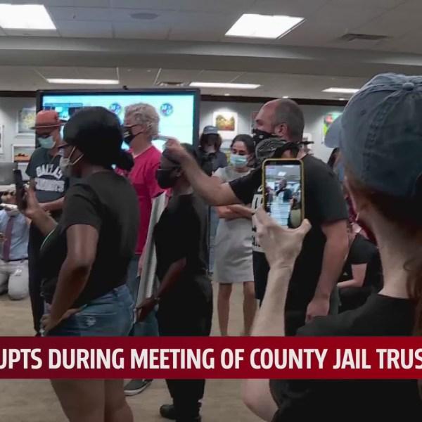 Jail trust protest