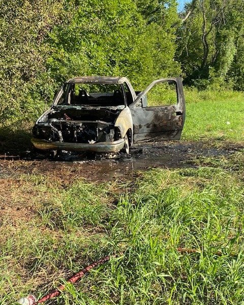 Burned Ford F150