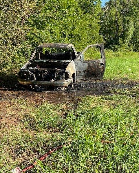 Burned Ford F150