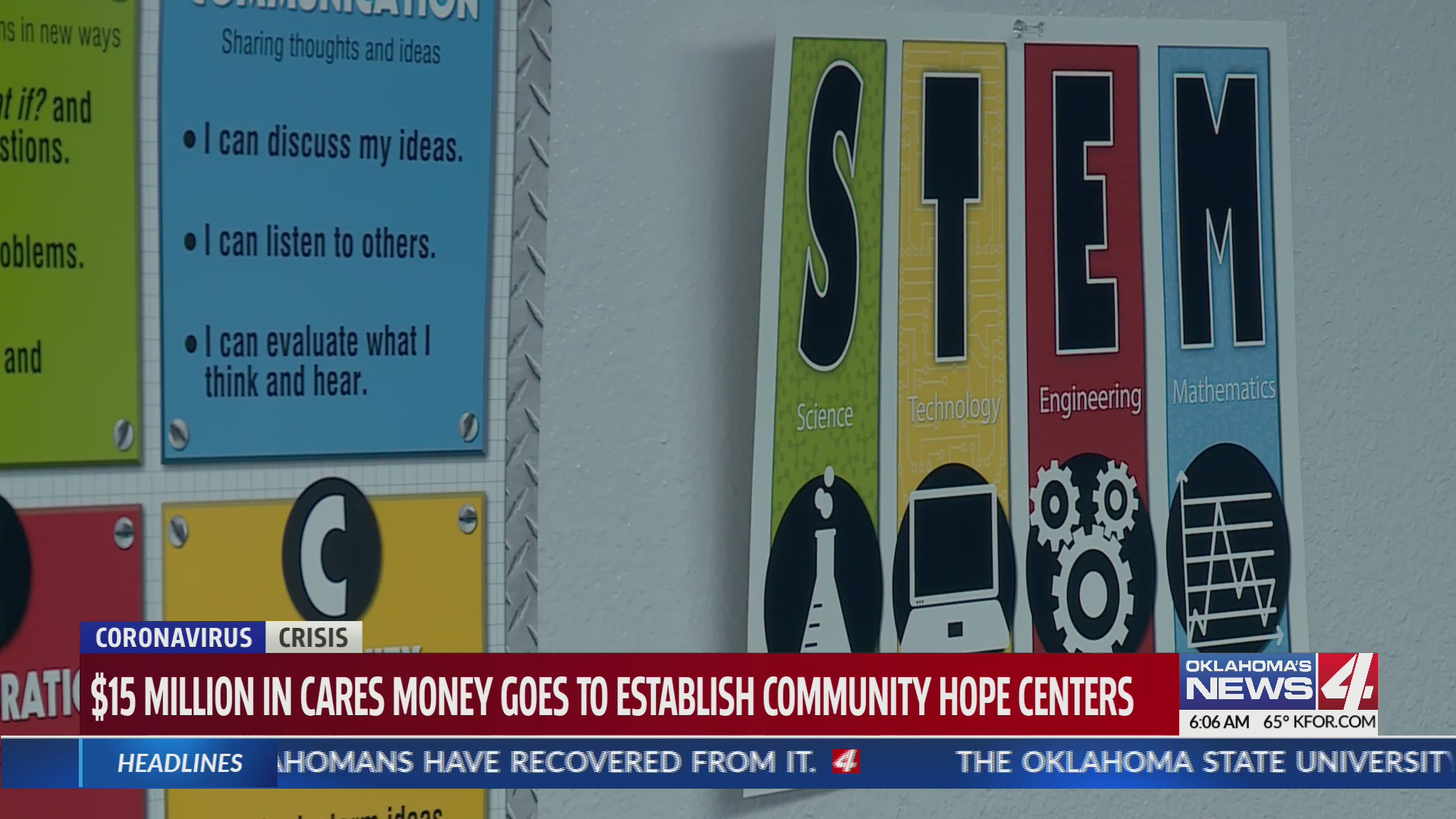 Community hope center STEM signs
