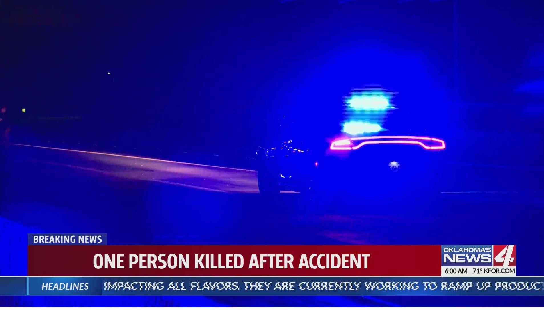 Deadly crash scene at Kilpatrick Turnpike service road