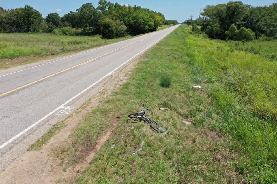 Crash scene in Hughes County