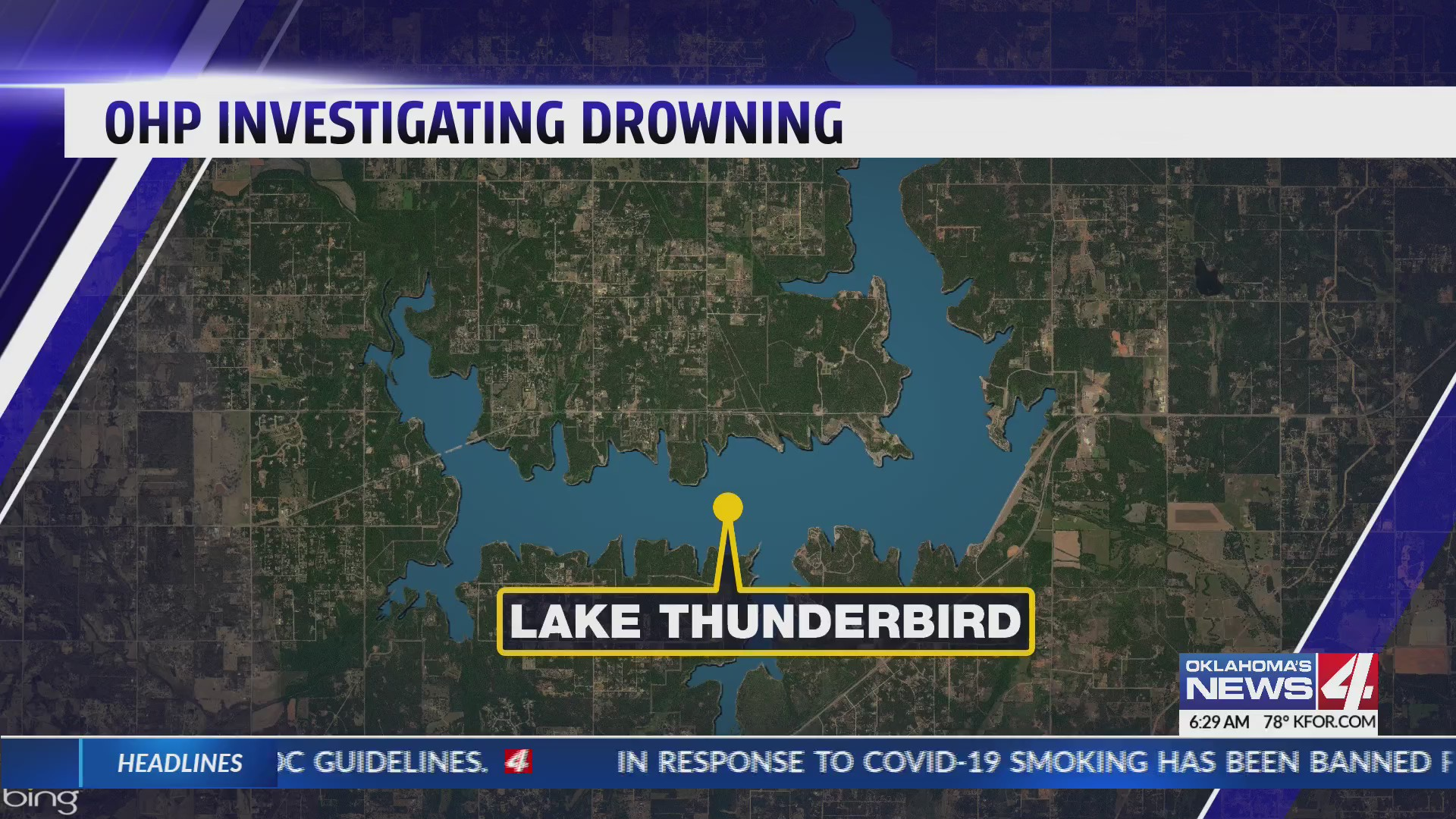 Lake Thunderbird map