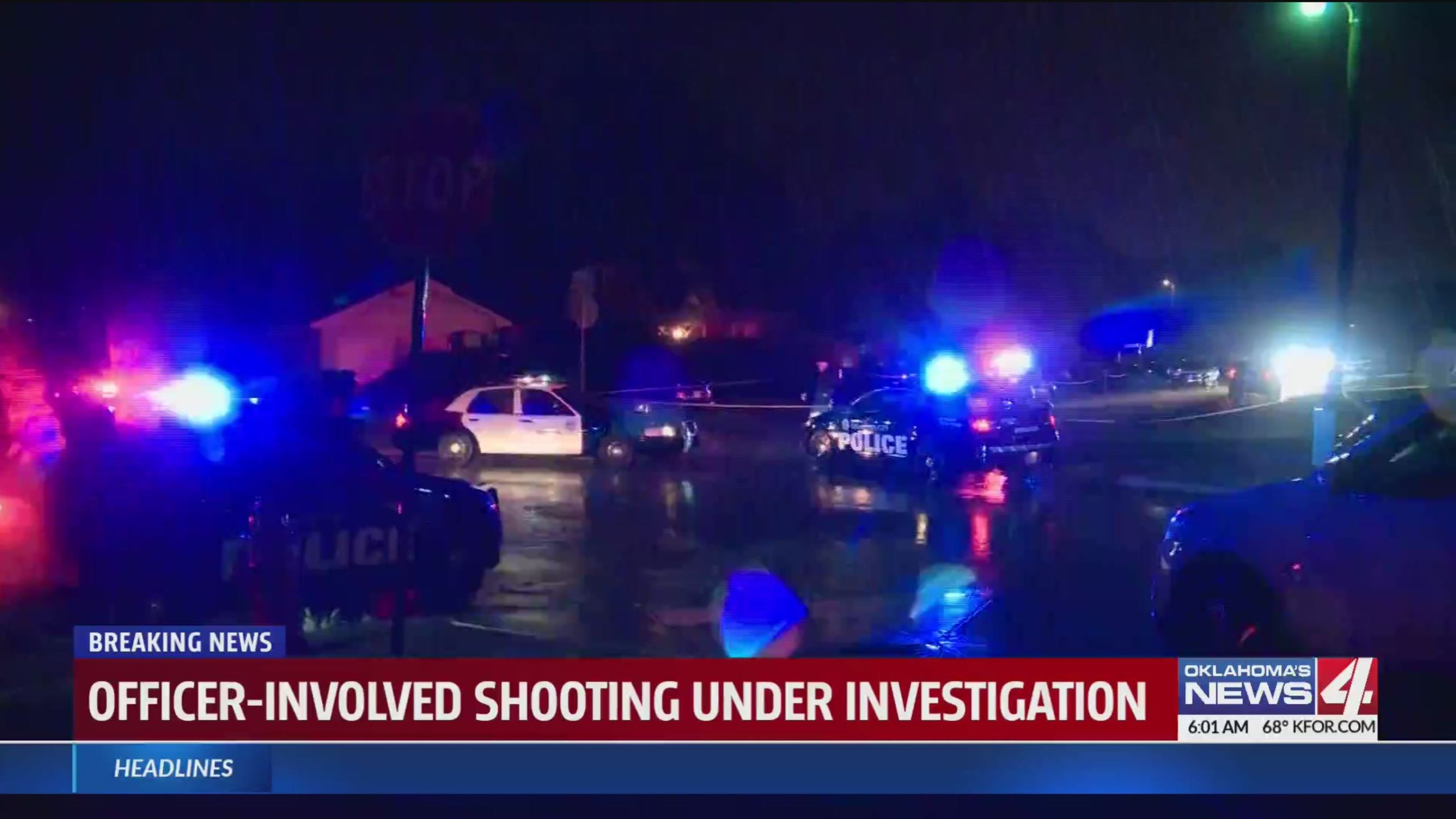 Officer involved shooting scene near NE 23rd and MLK