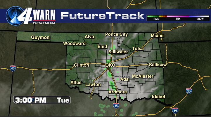 Isolated Showers Tuesday