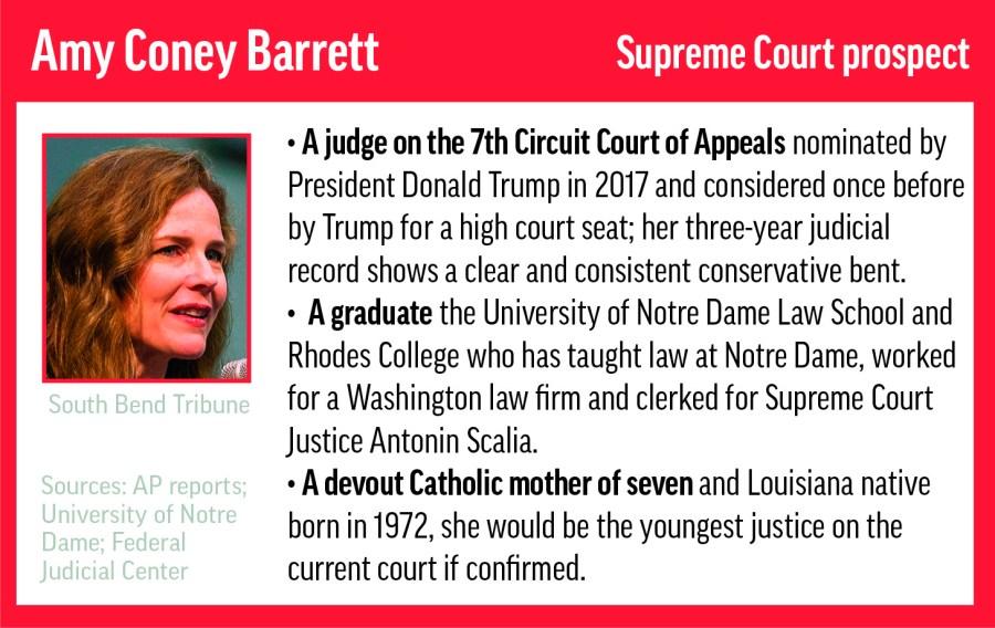 image of Amy Coney Barrett's biography