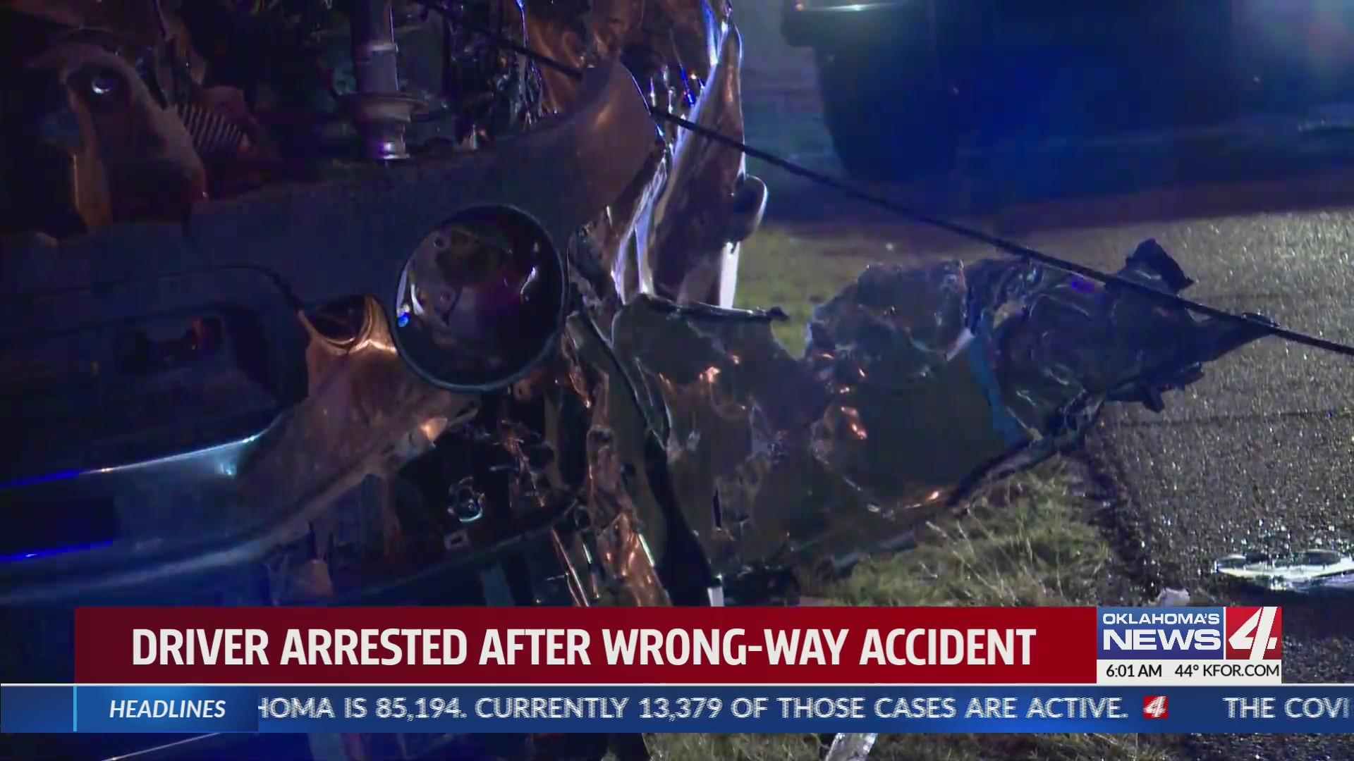 Driver arrested after crash on I-40