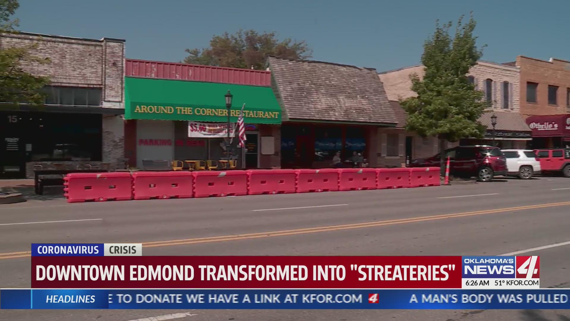 Edmond parking blocked off for outdoor dining