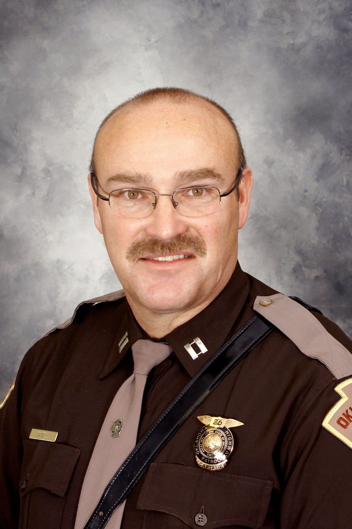 Oklahoma Highway Patrol Captain Jeff Sewell pictured here. OHP announced Saturday, September 26 that Sewell had died due to COVID-19.