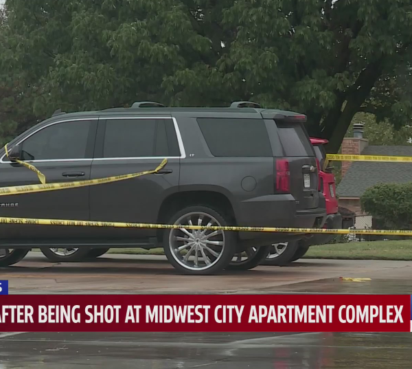 Midwest City police are searching for two suspects after a man was shot and killed in Midwest City.