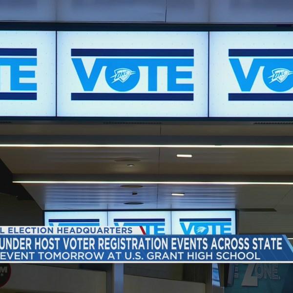 Thunder host voter registration drive