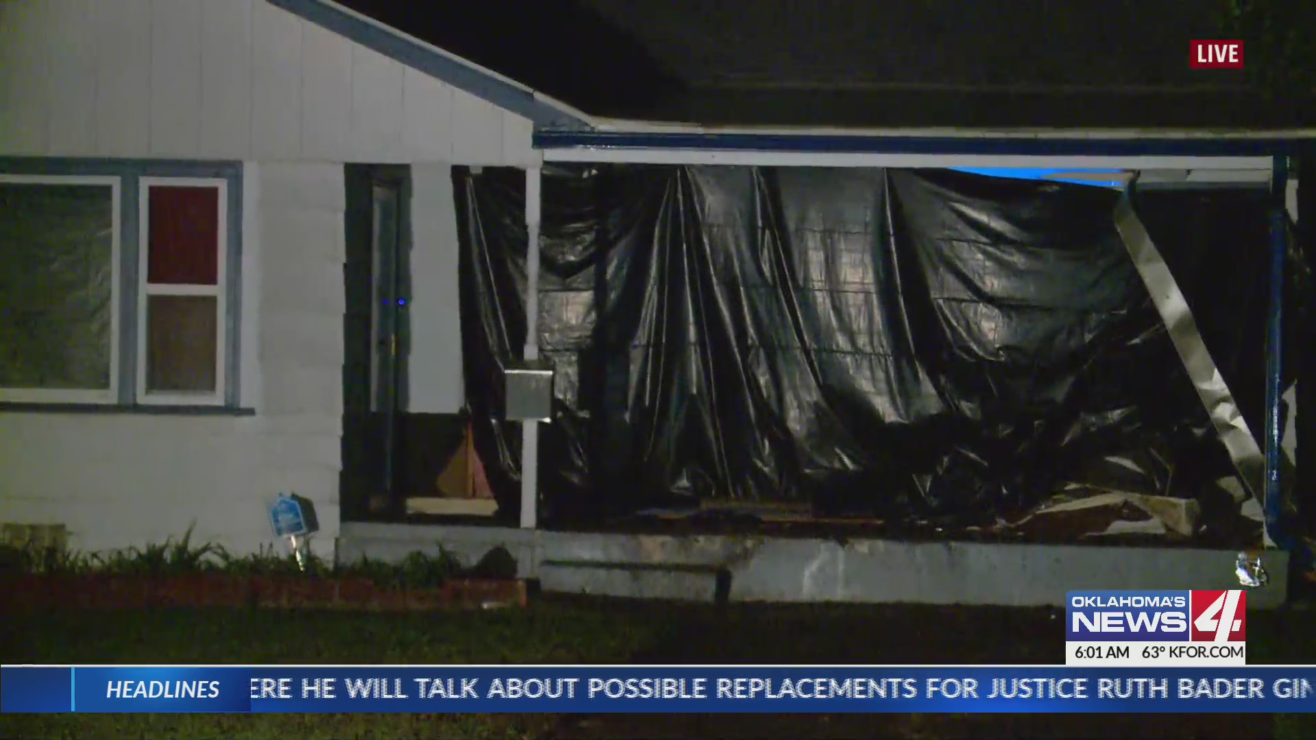 Truck slams into Oklahoma City home