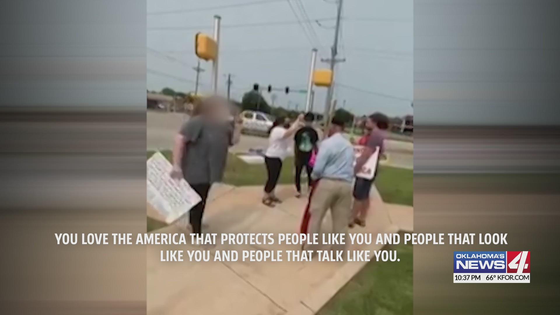 Veteran Confronted While Holding Flags On Edmond Street Corner Kfor Com Oklahoma City