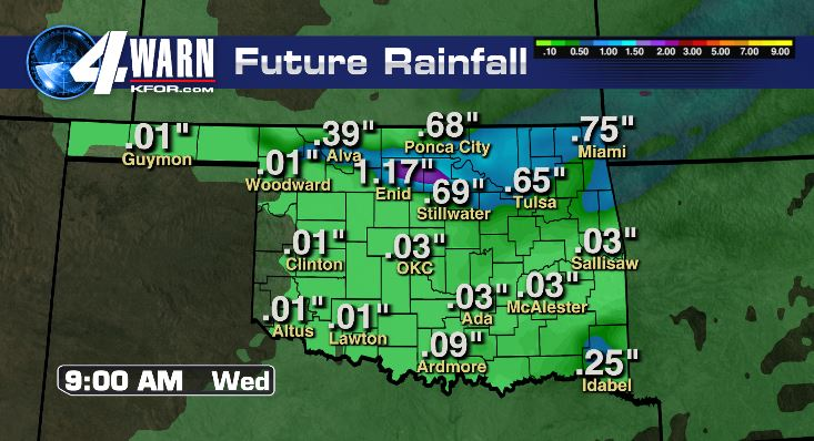 Rain Totals Today and Tonight