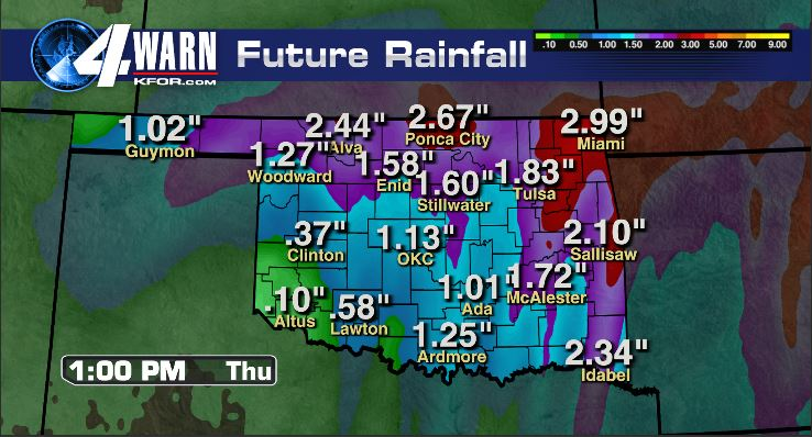 Rain Total Through Thursday