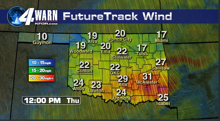 Strong Winds Thursday