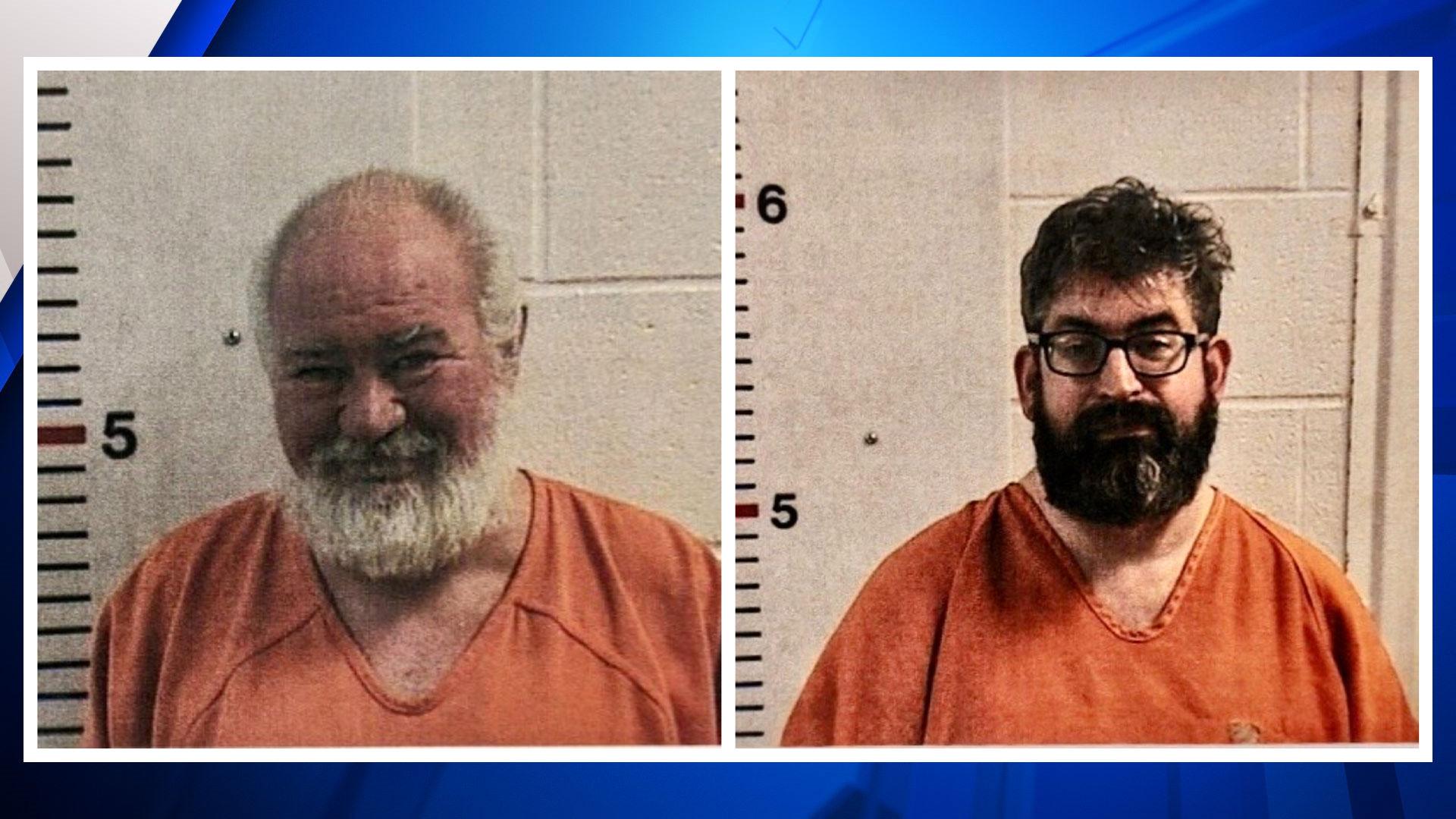 mugshots of Bob Lee Allen, 53 (L), Thomas Evans Gates, 42 (R)