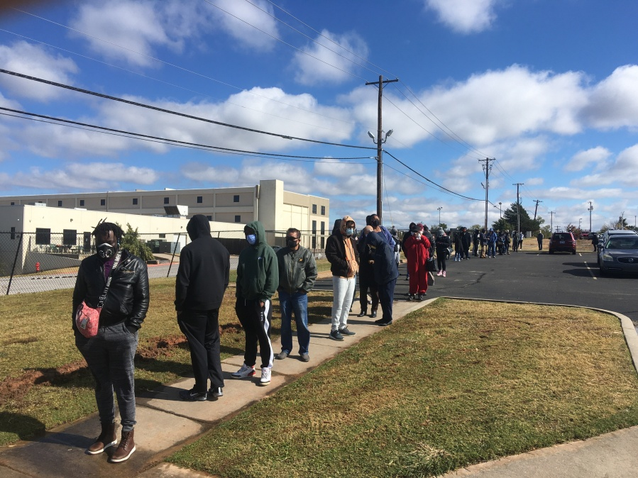 picture of long voter lines