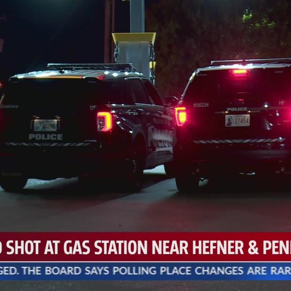 Man shot at gas station