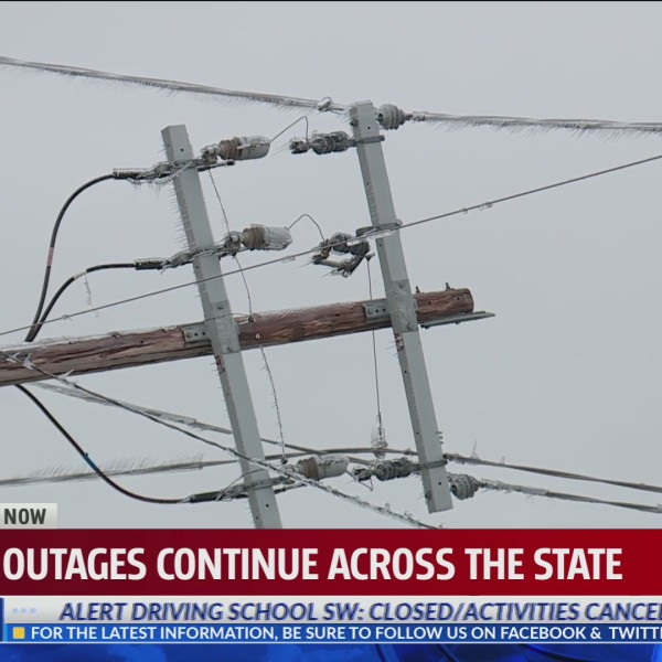 Power outages continue