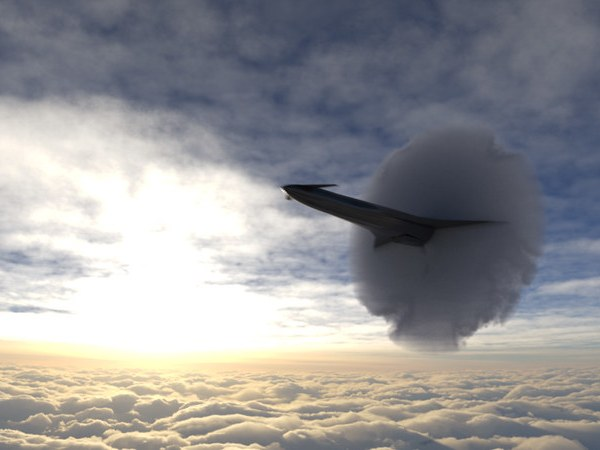 A 3D rendering of the aircraft the Project Boom team, comprised of over 200 students from around the world, hopes will break the sound barrier. Credit: OSU