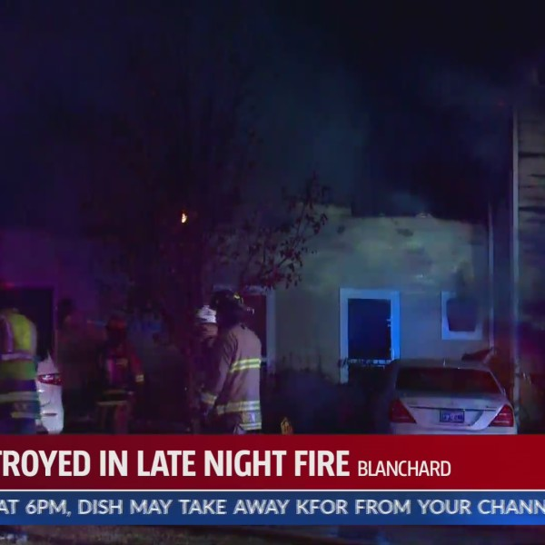 Blanchard home destroyed by fire