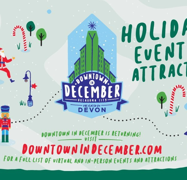 Downtown in December poster