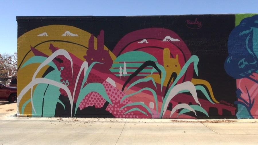 Jason Pawley mural Edmond Railyard