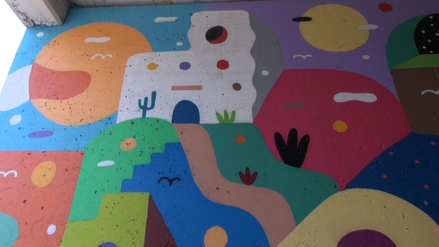 Kris Kanaly Abstract Passages mural