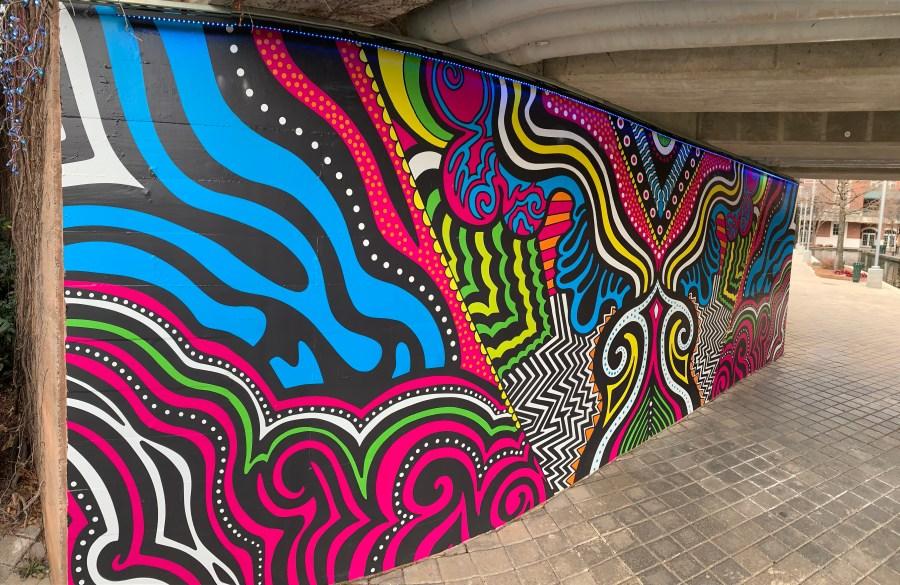 """Grow"" mural by Tiffany McKnight"
