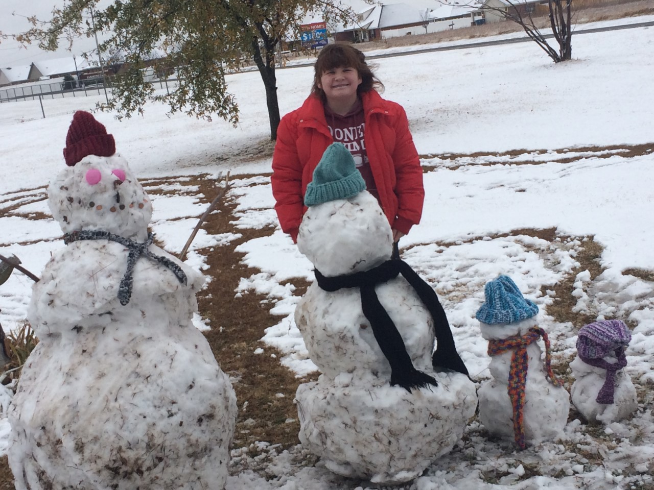 Emma and her snow family