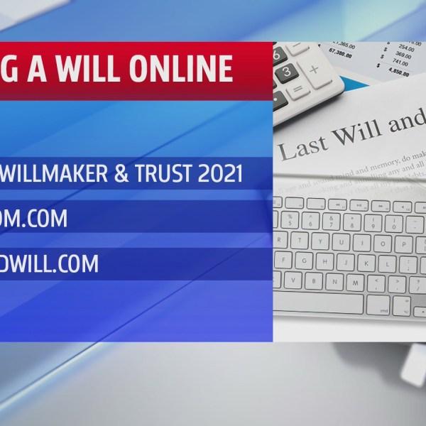 Online will graphic