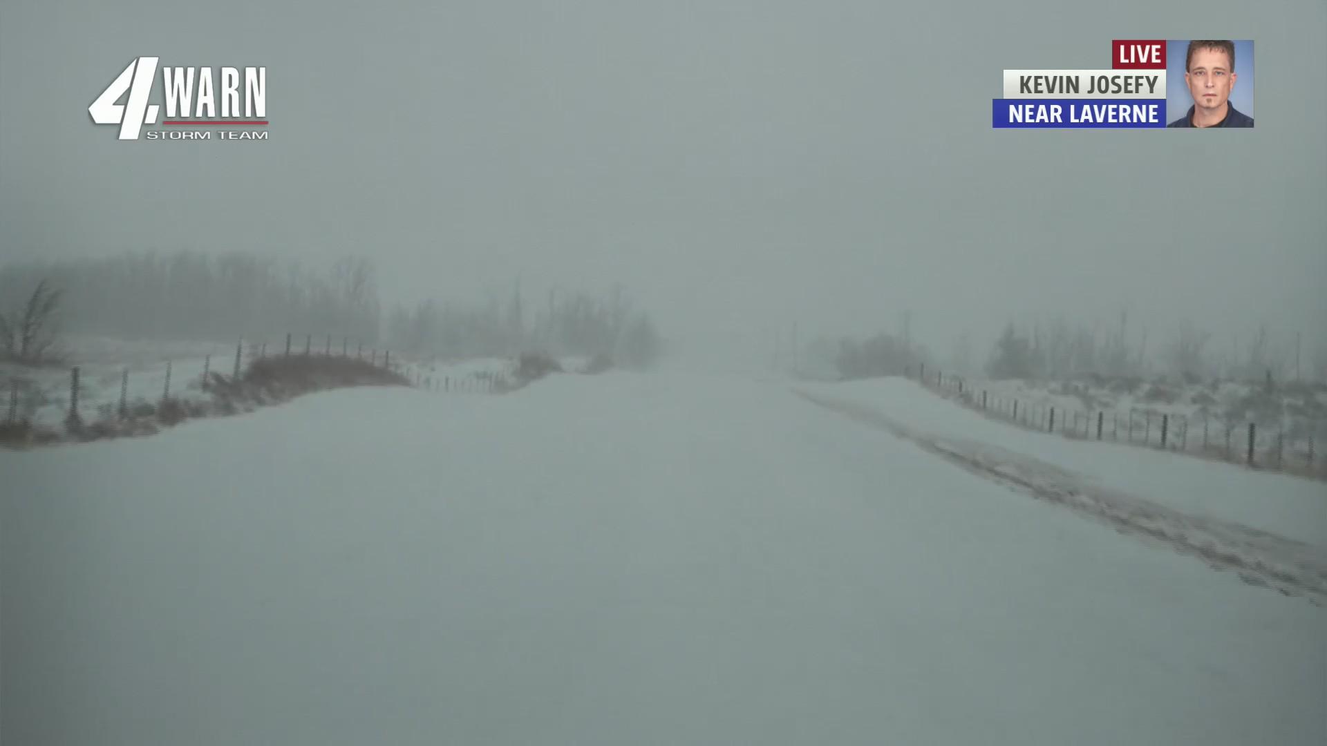 Roads near Laverne