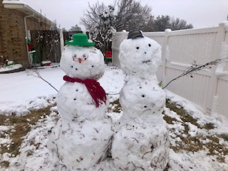 Snow couuple by Jill Scott in northwest Oklahoma City
