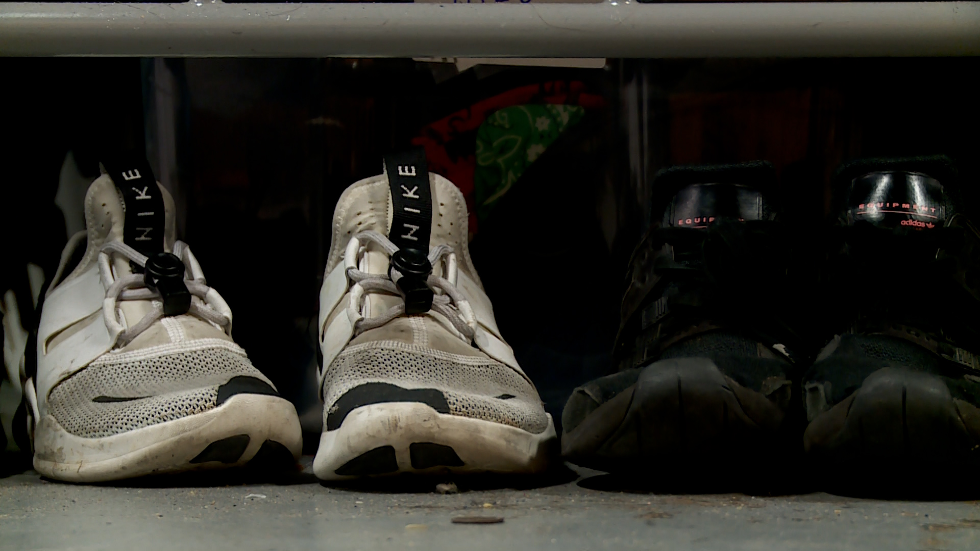 homeless youth tennis shoes at shelter